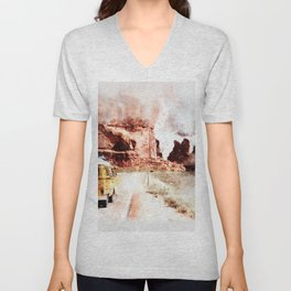 Bus Road Trip Abstract Unisex V-Neck