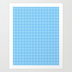 Picnic Pals gingham in blueberry Art Print