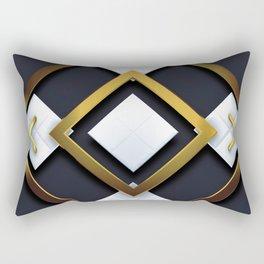 Light Dark and Gold 01 Rectangular Pillow
