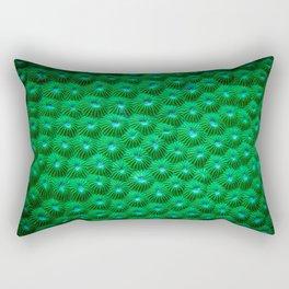 Green Curl Polyps Rectangular Pillow