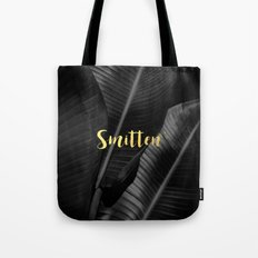 Smitten gold - bw banana leaf Tote Bag