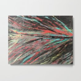 Blue and Teal Abstract Painting Metal Print