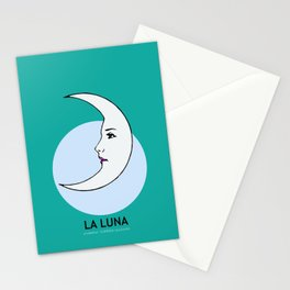 La Luna Mexican Loteria Card Stationery Cards