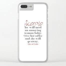 Horoscope Clear iPhone Case