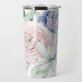 Succulent Blooms Travel Mug