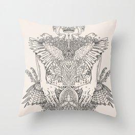 The Ravenous Throw Pillow