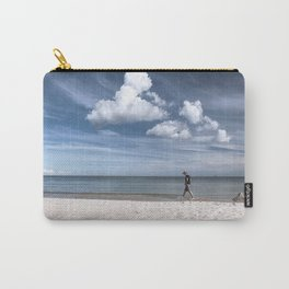 Lonely man at the beach Carry-All Pouch