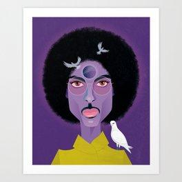 Purple Prince Art Print