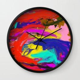 Rainbow Abstract II Wall Clock