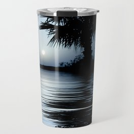 Blue Tropical Sunrise Travel Mug