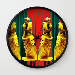 red green gold venus Wall Clock