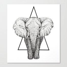Wisdom Elephant Canvas Print