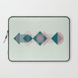 Nr. 1 Geometric Totem Pole Blush Pink and Green Laptop Sleeve