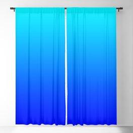 Aqua Blue Bright Ombre Blackout Curtain