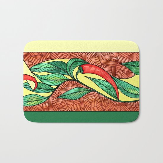 Hot red chili peppers Bath Mat