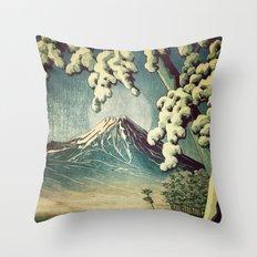 5 Lakes at Moonlight Throw Pillow