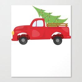 Christmas Pickup Hauling Christmas Tree Farm Canvas Print