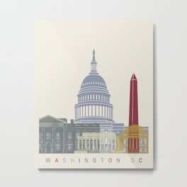 Washington DC skyline poster Metal Print