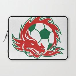 Welsh Dragon Soccer Ball Laptop Sleeve