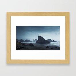 Cerulean Dreamscape Framed Art Print