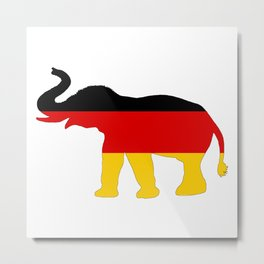 German Flag - Elephant Metal Print