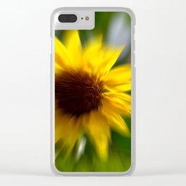 Sun in love Clear iPhone Case