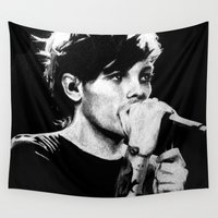 louis tomlinson Wall Tapestries featuring WWA Louis Tomlinson by crystaltaysm