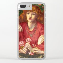 "Dante Gabriel Rossetti ""Rosa Triplex: A triple portrait of May Morris"" Clear iPhone Case"