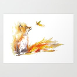 Fox and Butters  Art Print