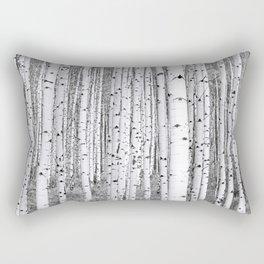 Aspen Grove / Black & White Rectangular Pillow