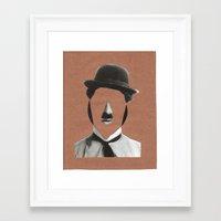 charlie chaplin Framed Art Prints featuring Charlie Chaplin by  by albasemmlergonzález