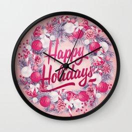 Holiday Greetings 8 Wall Clock