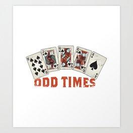 lucky cards poker  Art Print