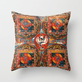 Hevajra Buddhist Thangka Mandala Yidam Throw Pillow