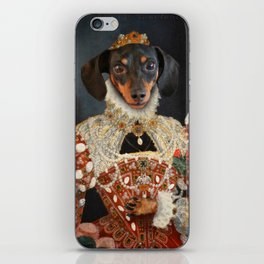 Queen Dixie - Dachshund Art iPhone Skin