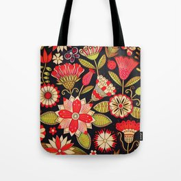 Blooms Butterflies and Ladybugs Tote Bag