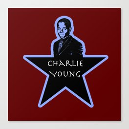 Charlie Young (Star)  Canvas Print