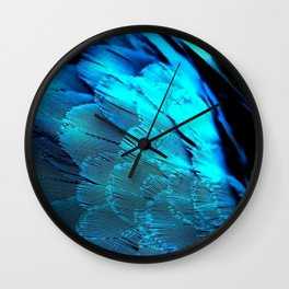 Feather Blues Wall Clock