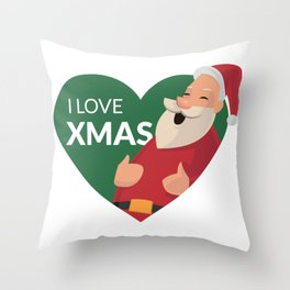 I Love XMAS Throw Pillow
