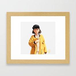 Yellow Coke Framed Art Print