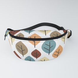 cute colorful autumn fall pattern background illustration with leaves Fanny Pack
