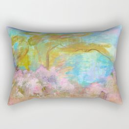 As Beautiful As The Day Is Long, Abstract Landscape Rectangular Pillow