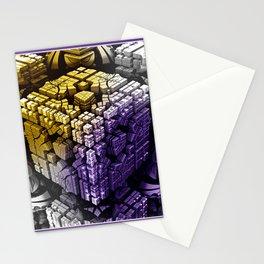 framed mandelbulb fractal -1- Stationery Cards