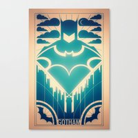 gotham Canvas Prints featuring Gotham by Lazare Gvimradze