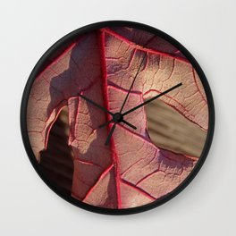 Underside of a Red Leaf Wall Clock