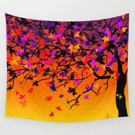 The Scent Of Halloween Autumn Tree Wall Tapestry