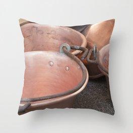 pot and pan Throw Pillow