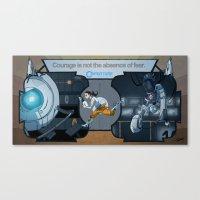 glados Canvas Prints featuring Portal Deco by Dojo