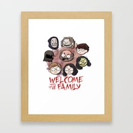 Welcome to the Family Framed Art Print