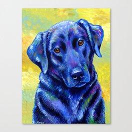 Colorful Labrador Retriever Dog Canvas Print